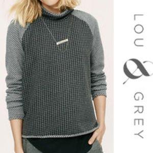Lou & Grey Houndstooth Popover Sweatshirt Medium